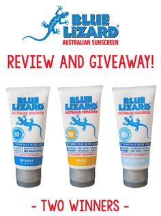 TWO winners! Blue Lizard Sunscreen, Turn Blue, Giveaways, Winner Winner, Chicken, Dinner, Box, Products, Dining