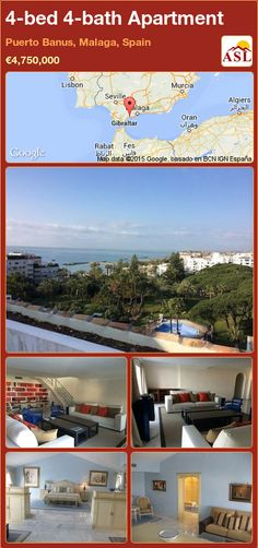 Apartment for Sale in Puerto Banus, Malaga, Spain with 4 bedrooms, 4 bathrooms - A Spanish Life Murcia, Puerto Banus, Malaga Spain, Security Guard, Lifeguard, Storage Room, Apartments For Sale, Terrace, Swimming Pools