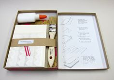 Bookbinding kit diy journal kit for a hardcover journal bound accordion fold book photo album kit do it yourself kit paper goods solutioingenieria Image collections