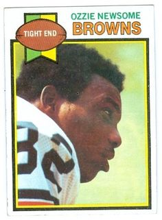 Ozzie Newsome football card 1979 Topps #308 (Cleveland Browns) Rookie Card by Hall of Fame Memorabilia. $32.95