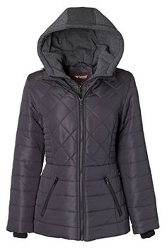 Jones New York Womens Packable Jacket Parka-in-a-Pouch Down Alternative Coat