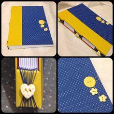 Caderno de anotações, capa em tecido e papel, acabamento em costura longstitch e miolo em papel 75 gramas