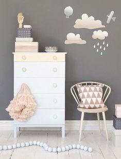 Vinilos de lluvia habitación de niños. Rain stickers for kids. http://kidsmopolitan.com/vinilos-de-lluvia/ #kidsdecor #decoración #niños #kids