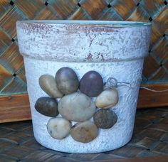 Check out this item in my Etsy shop https://www.etsy.com/listing/234966260/hand-painted-rustic-terracotta-pot-just