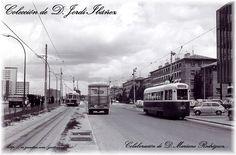 1960s Tranvías Fiat PCC en la Avenida del Generalísimo