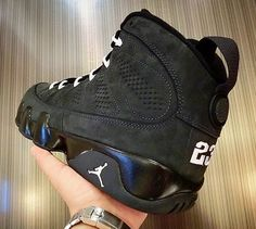 """Air Jordan 9 Retro """"Anthracite"""" New Images - Air 23 Air Jordan 9, Jordan 9 Retro, Air Jordan Shoes, Nike Kicks, Popular Sneakers, Groom Shoes, Adidas Shoes Outlet, Fresh Shoes, Beautiful Shoes"""