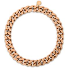 Stella McCartney Chain Necklace ($580) ❤ liked on Polyvore featuring jewelry, necklaces, gold, chunky chain jewelry, stella mccartney, chunky chain necklace, chain necklaces and chains jewelry