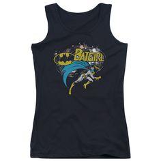 DC Comics Batgirl Haftone Junior's Tank Top - Black