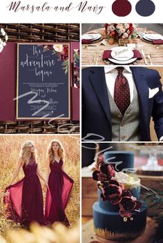 Love This Color Scheme Navy Marsala Gold Wedding Palette Burgundy And With Accents