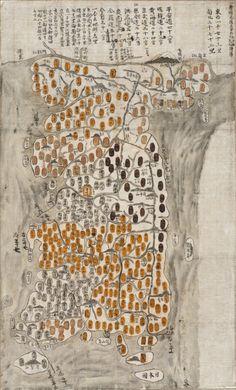 Map of Korea, 1784