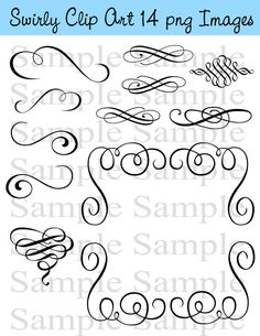 Hey, I found this really awesome Etsy listing at https://www.etsy.com/listing/169043239/swirly-flourish-swirls-wedding-clipart