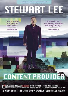 Stewart Lee: 2017 / 2018 Content Provider National Tour ContinuesWithGuitars