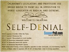 Oklahomans strongly oppose horse slaughter..their politicians are not listening..