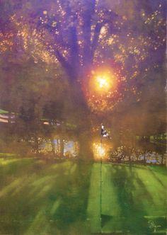 """""""Sun-dappled golf course"""" - by Bernie Fuchs"""