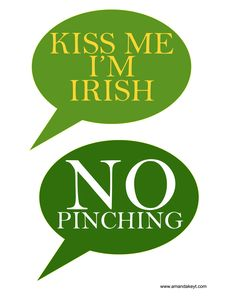 Speech Bubbles from St. Patrick's Day Printable Photo Booth Prop Set