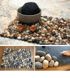 Идеи использования гальки и камней в интерьере.. Обсуждение на LiveInternet - Российский Сервис Онлайн-Дневников