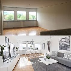 Before & after homestaging.  by #Desint .