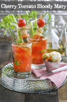 cherry tomato bloody mary muddled cherry tomato bloody mary with extra ...