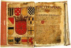 """Nabarrako Armarria El escudo de Armas de Nabarra """"Libro de Armeria del Reino de Navarra"""""""