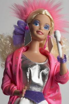 Child of the 80s #Barbie  (I remember the day I got this exact Barbie!  She came with a Barbie and the Rockers cassette tape.)