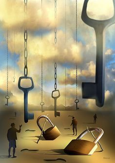 surreal + dream Imagination Surrealism Dream O Mistério das Chaves Suspensas by Marcel Caram