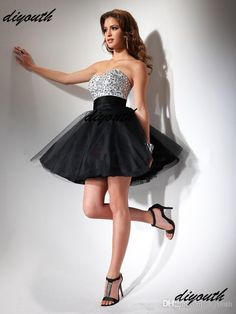 Free shipping, $94.24/Piece:buy wholesale 2015 Fashion Sparkle A-Line Sweetheart Blackless Zipper Sleeveless Mini Organza Tulle Beaded Sequins little Black Dresses Prom Dresses from DHgate.com,get worldwide delivery and buyer protection service.