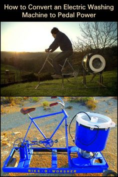 Convert an Electric Washing Machine into a Pedal-Powered Appliance!