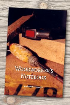 Plan your next woodworking project with the help of this note book, with a materials list and special pages for sketches to flesh out your ideas. Woodworking Journal, Woodworking Ideas, Project Planner, The Help, Sketches, Notebook, Posters, How To Plan, Gifts