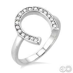 diamond horse shoe ring