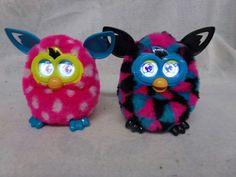 2 Hasbro, Furby Boom Pink Blue & Pink w/ White Polka Dots Furby,2012