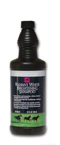 Miracle Coat Radiant White Brightening Horse Shampoo by Miracle Coat. $11.24. This is Miracle Coat Radiant White Brightening Horse Shampoo. Gently whitens and intensifies, without drying or damaging the skin and coat. Brightens while naturally conditioning, creating a lustruous sheen. Leaves coat remarkably soft, healthy and shiny. Specifically formulated and pH balanced for horses. With vitamin E, tea tree oil, Roman chamomile, lavender and rose extract. More active ingredi... Horse Grooming Supplies, Grooming Kit, Vitamin E, Health And Nutrition, Health And Wellness, Horse Shampoo, Roman Chamomile, Tea Tree Oil, Whitening