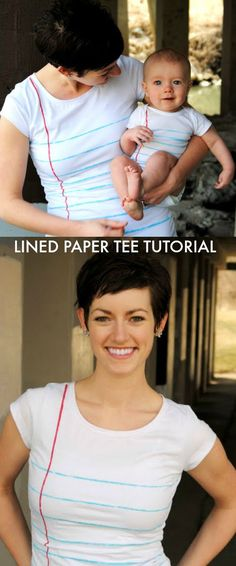 Lined Paper Tshirt T