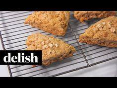 Best Cinnamon Oat Scones with Maple Glaze Recipe - Delish