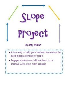 Slope Project (Two options) with Rubrics