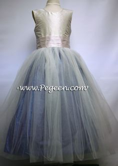 junior bridesmaid dresses | ... Blue, Pink and Ivory TULLE JUNIOR BRIDESMAID DRESS Style 356 by Pegeen