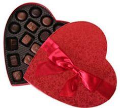Chocolates in a heart box to Saint-Pierre-and-Miquelon