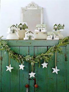 decoracion de navidad, me gusta la pintura blanca
