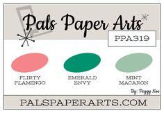 Stampin' Up! Color Inspiration: Flirty Flamingo, Emerald Envy, Mint Macaron