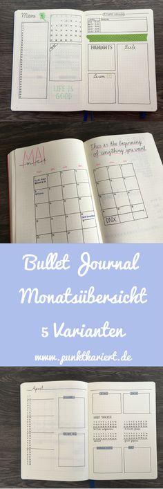 So kannst du die Bullet Journal Monatsübersicht gestalten