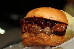 Peanut Butter & Jelly Bacon Sriracha Burger | Community Post: 55 Peanut Butter And Jelly Recipes