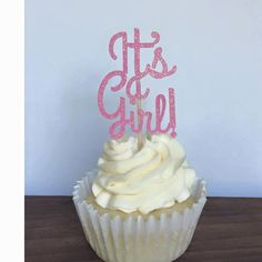 It's a Girl! Cupcake Toppers, Baby Shower Cupcake Toppers - http://babyshower-cupcake.com/its-a-girl-cupcake-toppers-baby-shower-cupcake-toppers/