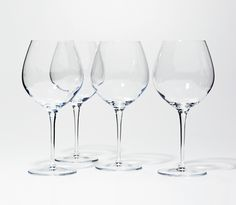 SNOWE - Set of 4 Red Wine Glasses  - Made in Italy; Crystalized Glass :: $80