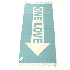 32,90EUR Teppich mit Schrift One Love Pfeil türkis