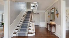 That picture Lovable Georgian Stairs Design on Home Remodeling Inspiration with Toronto Restoration Traditional Staircase Other with the size 640 x 420 ove Modern Georgian, Georgian Homes, Georgian Townhouse, Entry Stairs, Entry Hall, House Staircase, Grand Staircase, Staircase Design, House 4 Sale
