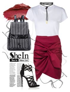 """""""Faux Leather Backpack Shein"""" by isis-anubis5 ❤ liked on Polyvore featuring Urban Decay, RE/DONE and Giuseppe Zanotti"""