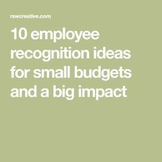 Leaders understand that recognition impacts engagement, productivity and retention, here are 10 budget-friendly ideas for making employees feel appreciated. Employee Rewards, Incentives For Employees, Employee Morale, Staff Morale, Employee Appreciation Gifts, Teacher Appreciation Week, Volunteer Appreciation, Happy Employees, Employee Gifts