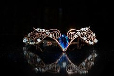 """Tiara """"Swan Princess"""" Weddings Hair accessory Fairy Circlet Diadem oxidized antiqued Swarovski crystal Copper wire from ArtJewerly on Etsy. Cute Jewelry, Hair Jewelry, Jewelry Bracelets, Fashion Jewelry, Wedding Hair Accessories, Jewelry Accessories, Circlet, Tiaras And Crowns, Pageant Crowns"""