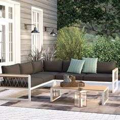 Trent Austin Design Anoop 4 Piece Sectional Seating Group with Cushions