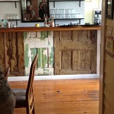 Bar made of old doors at Banana Cafe in Key West, we will have to stop in there next time we are in Key West ;)