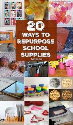 20 Brilliant Ways To Repurpose Those School Supplies This Summer - DIY & Crafts Dollar Store Hacks, Dollar Store Crafts, Dollar Stores, Crafts For Teens To Make, Crafts To Make, Easy Crafts, Kids Diy, Summer Fun For Kids, Summer Diy
